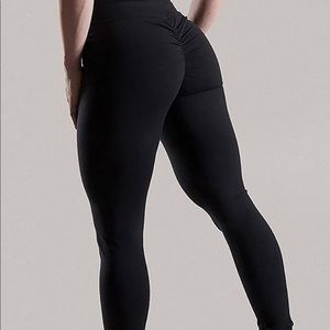 3ecdff2cc8c19 Pants | Black Leggings Yoga Scrunch Butt Booty Ruched Pant | Poshmark
